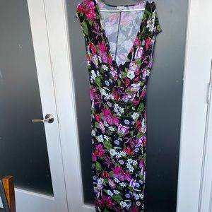 Spense floral maxi faux wrap dress